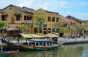Altstadt von Hoi An am Thu Bon Fluss