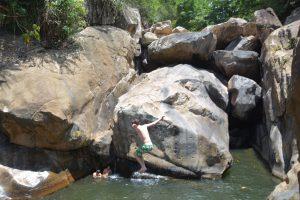 Tiefe Gumpe am 1. Ba Ho Wasserfall
