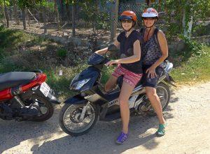 Unterwegs mt dem Moped