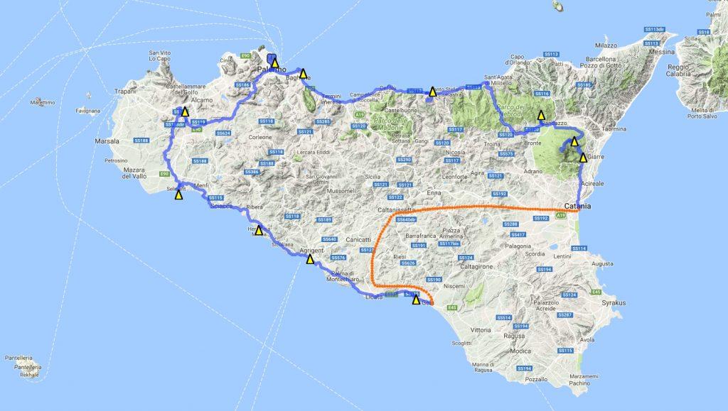 Sizilien Karte Route 2 Zelt https://blog.maiwolf.de/sizilien_nordkueste/