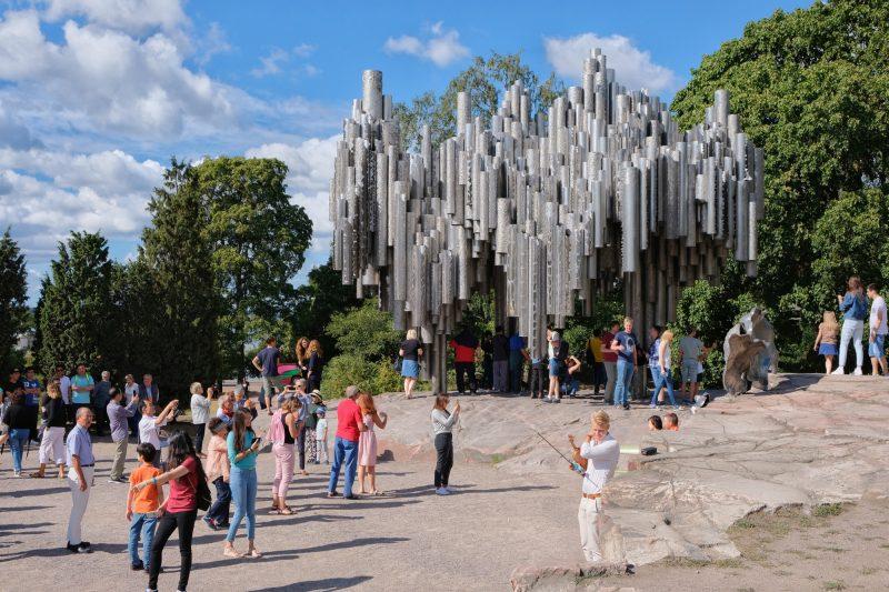 Sibelius Monument - beliebt bei vielen Touristen!